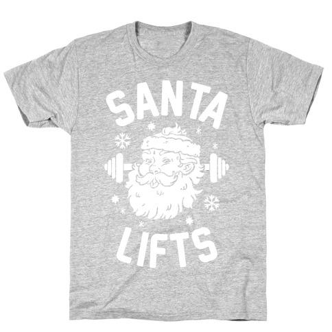 Santa Lifts Mens/Unisex T-Shirt