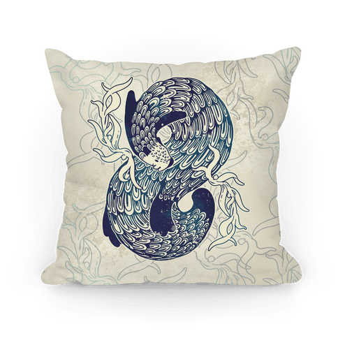 Swirling Wave Otter Pillow