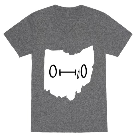 Ohio Looks Concerned V-Neck Tee Shirt