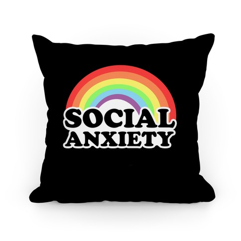 Social Anxiety Rainbow Pillow