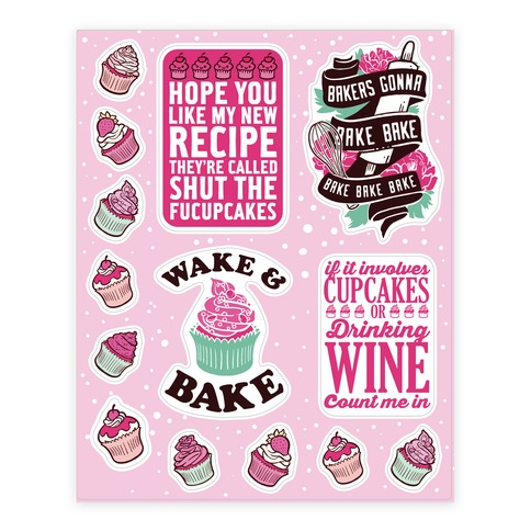 Baking & Cupcake  Sticker/Decal Sheet