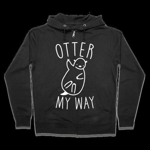 Otter My Way Zip Hoodie