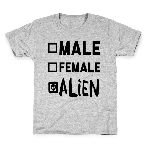 Male Female Alien Kids T-Shirt