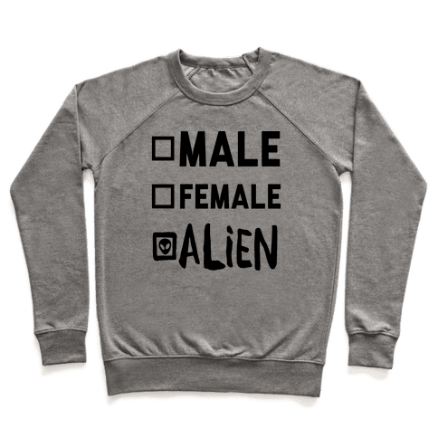 Male Female Alien Pullover