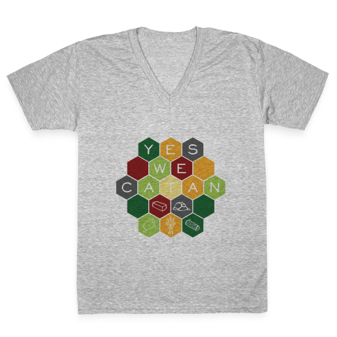 Yes We Catan V-Neck Tee Shirt
