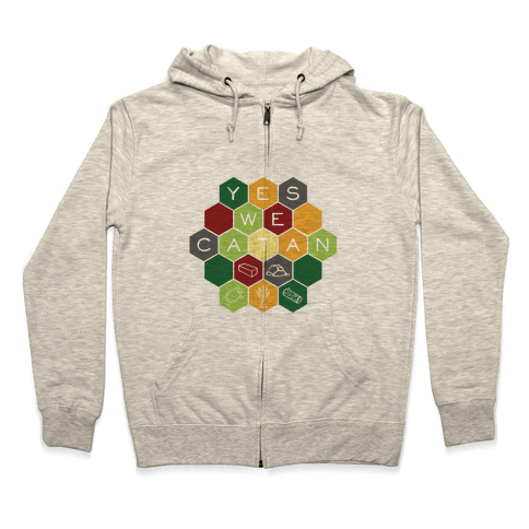 Yes We Catan Zip Hoodie