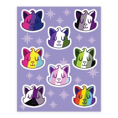 LGBTQ Cat  Sticker and Decal Sheet