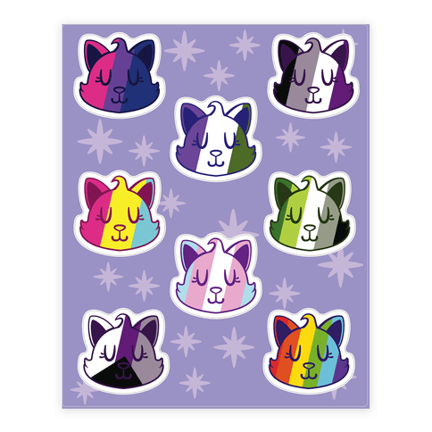 LGBTQ Cat  Sticker/Decal Sheet