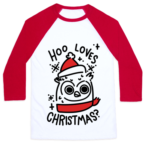 Hoo Loves Christmas? Baseball Tee