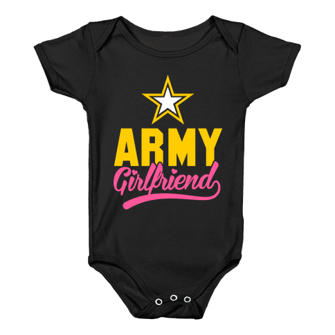 Army Girlfriend Baby Onesy