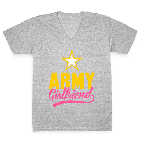 Army Girlfriend V-Neck Tee Shirt