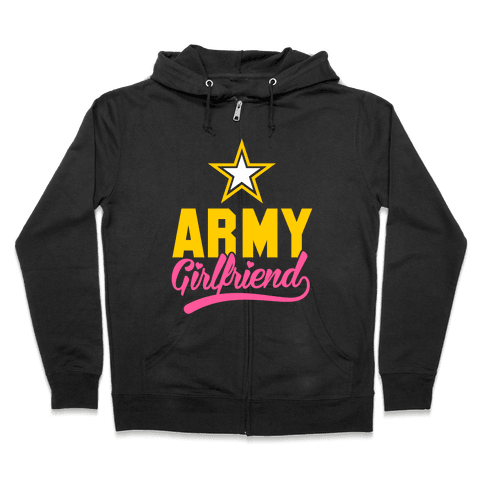 Army Girlfriend Zip Hoodie