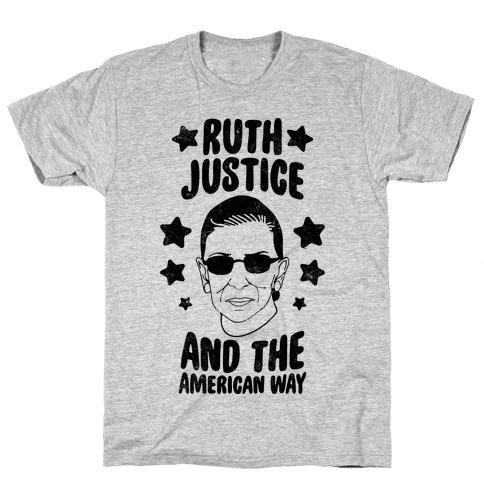 Ruth, Justice, And The American Way (Vintage) Mens T-Shirt