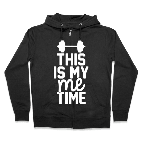 This Is My Me Time (White) Zip Hoodie