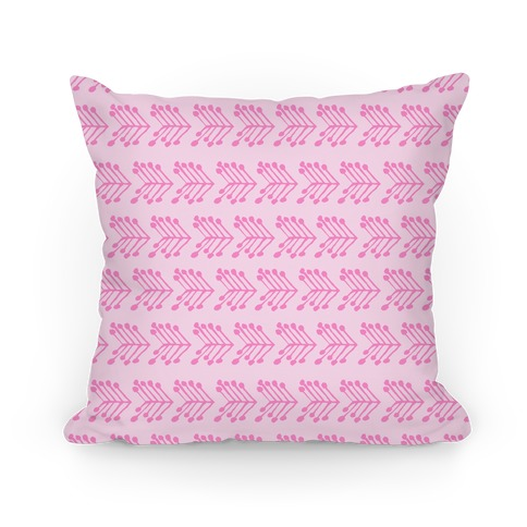 Pink Cute Chevron Pattern Pillow