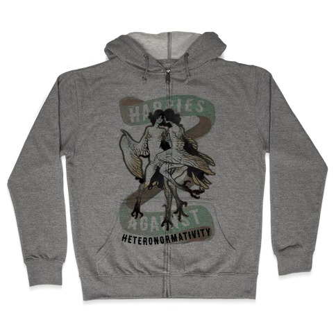 Harpies Against Heteronormativity Zip Hoodie