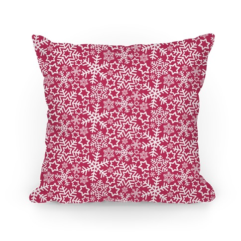 Winter Snowflakes Red Pattern