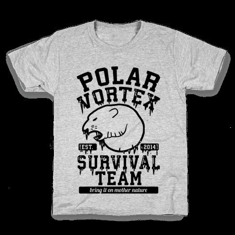 Polar Vortex Survival Team Kids T-Shirt