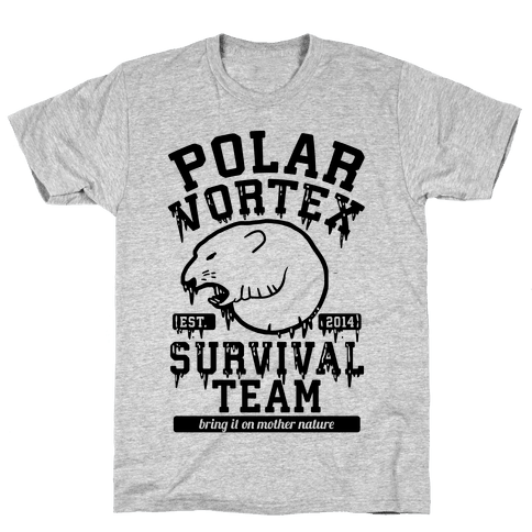 Polar Vortex Survival Team Mens T-Shirt