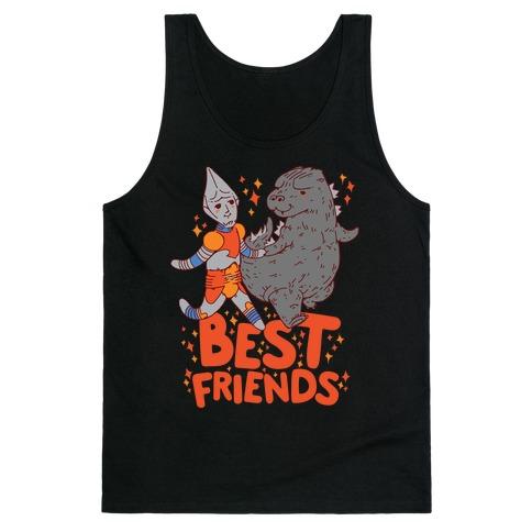 Best Friends Jet Jaguar & Godzilla Tank Top