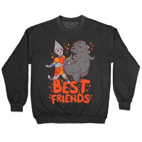 Best Friends Jet Jaguar & Godzilla Pullover