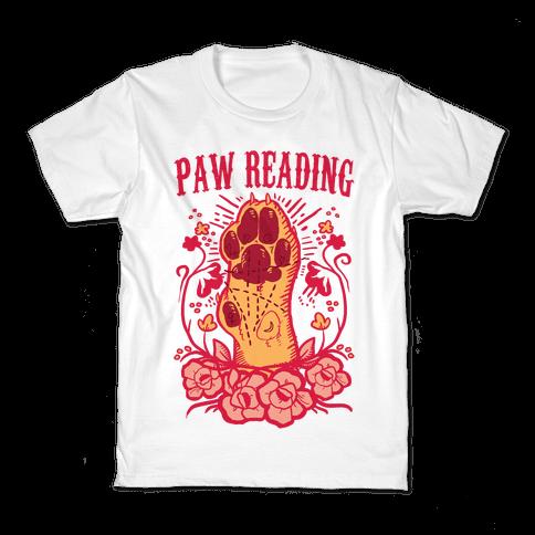 Paw Reading Kids T-Shirt