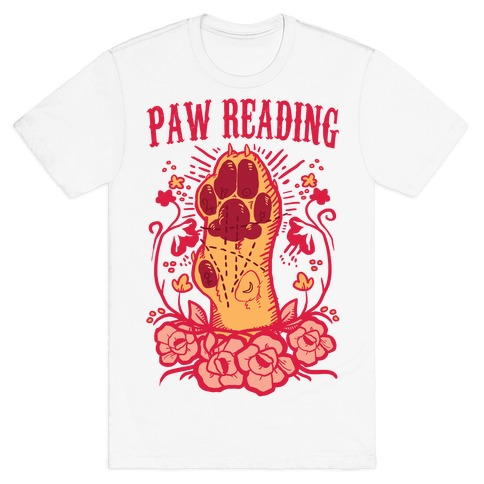 Paw Reading Mens T-Shirt
