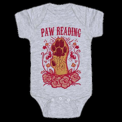 Paw Reading Baby Onesy