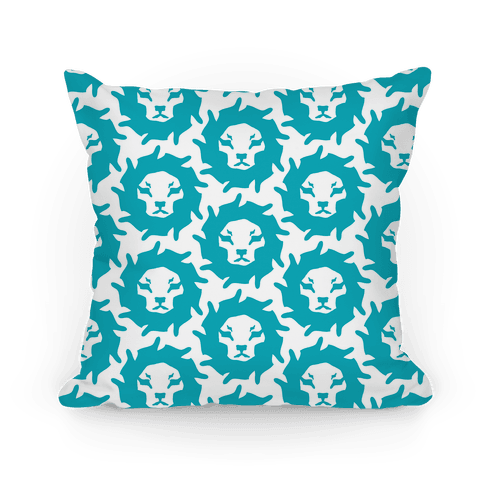 Lion Pattern (Blue) Pillow