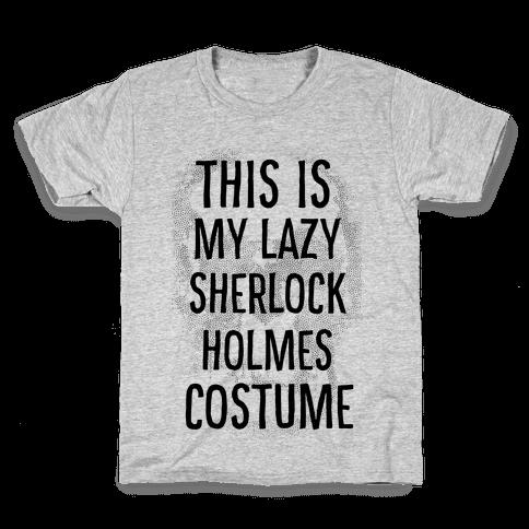 Lazy Sherlock Holmes Costume Kids T-Shirt