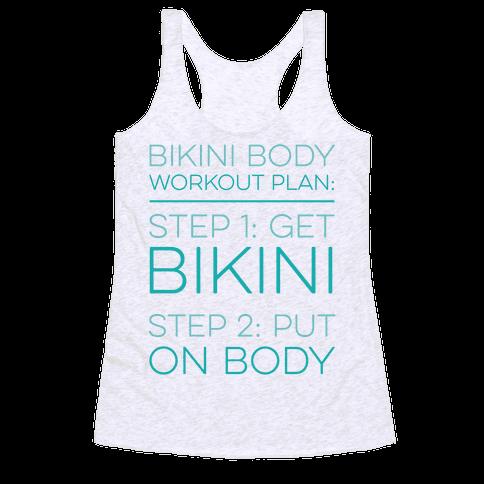 Bikini Body Workout Plan Racerback Tank Top