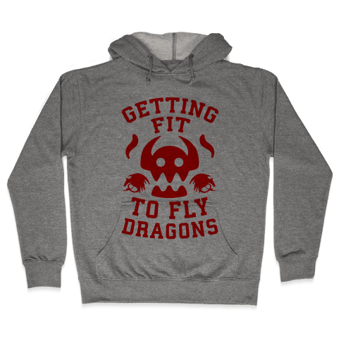 Getting Fit to Fly Dragons Hooded Sweatshirt