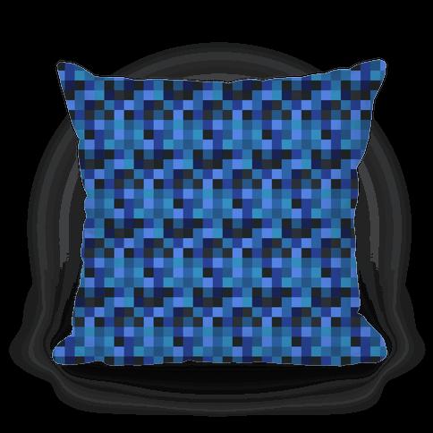Blue Gamer Pixel Pattern