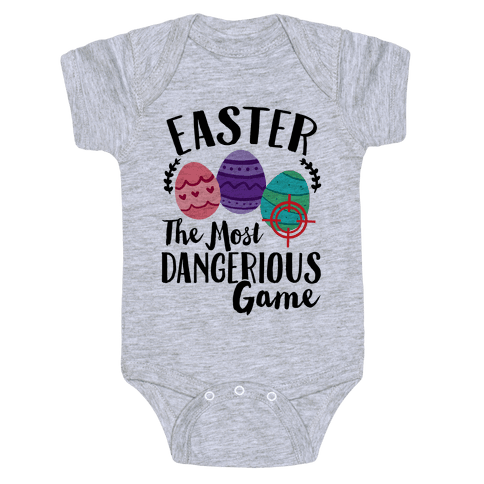 Easter: The Most Dangerous Game Baby Onesy