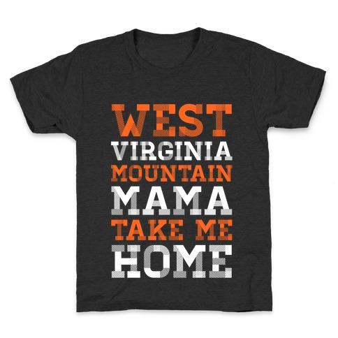 West Virginia, Mountain Mama Kids T-Shirt