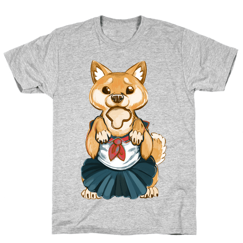Shiba Inu is Late for Anime School Mens T-Shirt