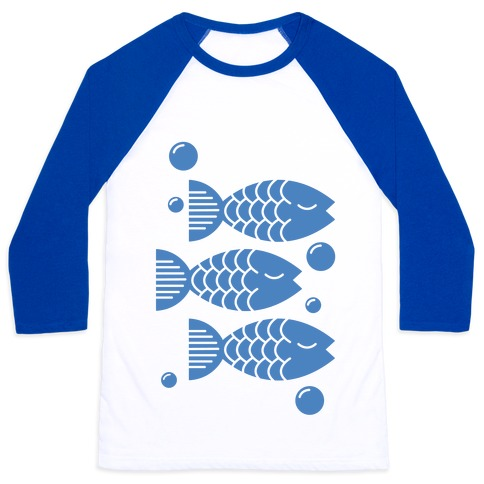 Geometric Fish Baseball Tee