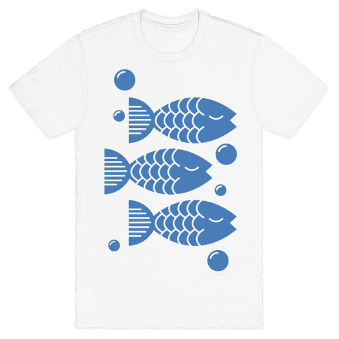 Geometric Fish Mens T-Shirt