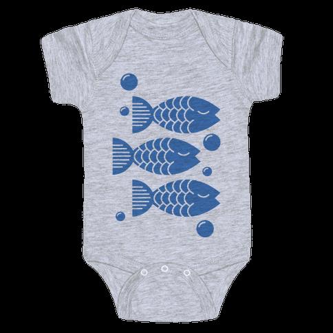 Geometric Fish Baby Onesy