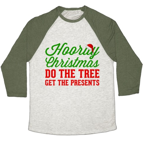 Hooray Christmas Baseball Tee