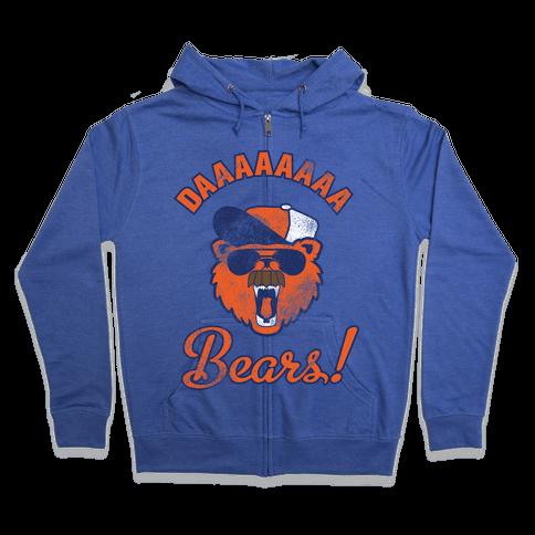 Da Bears Vintage Zip Hoodie