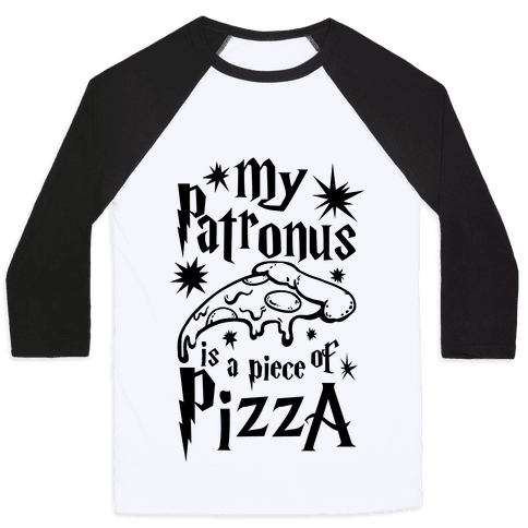 My Patronus is a Piece of Pizza Baseball Tee