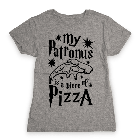 My Patronus is a Piece of Pizza Womens T-Shirt