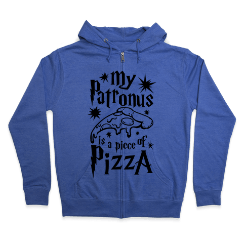 My Patronus is a Piece of Pizza Zip Hoodie