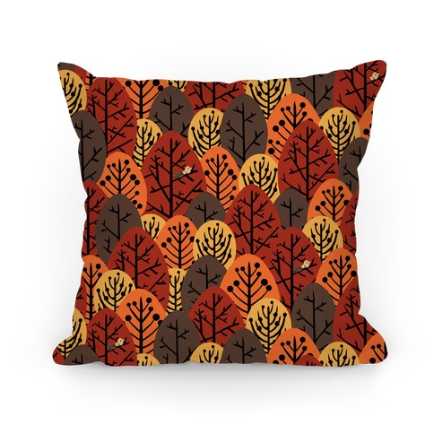Fall Trees Pattern Pillow