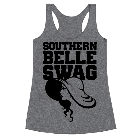 Southern Belle Swag Racerback Tank Top