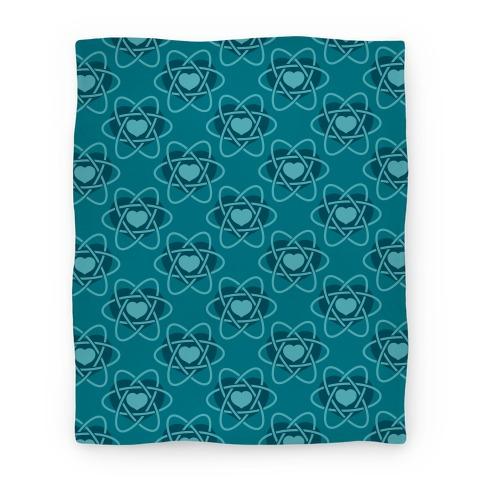 Heart Atom Blanket (Blue) Blanket