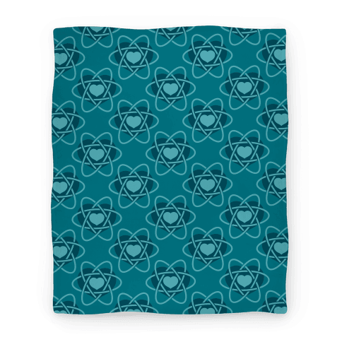 Heart Atom Blanket (Blue)