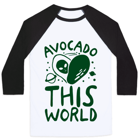 Avocado This World Baseball Tee
