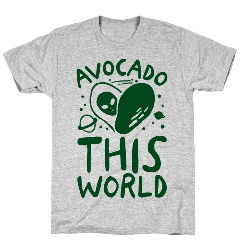 Avocado This World Mens T-Shirt